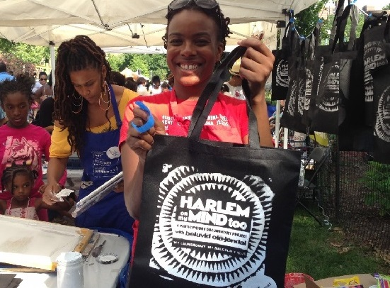 Screenprinting at Sweet Spot Festival. Harlem