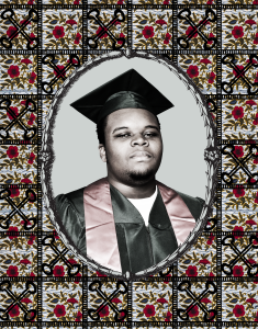 Mike Brown Funeral Fabric
