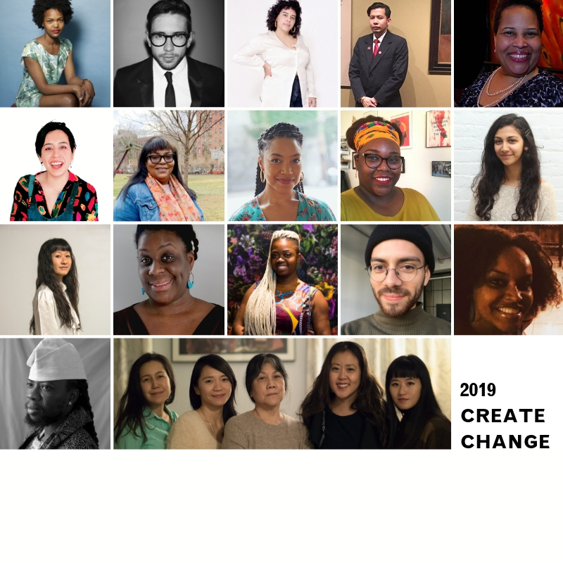 Meet Our 2019 Create Change Artists